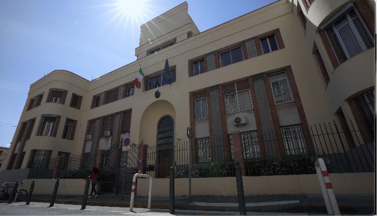 Vue sur la Casa d'Italia de Marseille, actuel siège du Consulta général d'Italie à Marseille, rue d'Alger